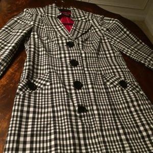Fall/Spring Topper Jacket Black & White (New SZ 8)